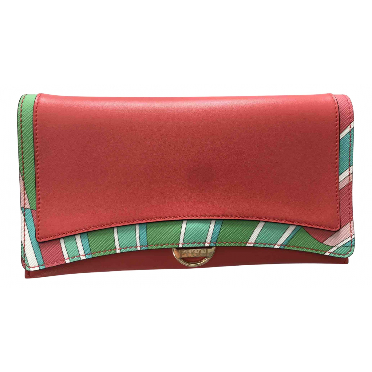 Emilio Pucci N Orange Leather wallet for Women N