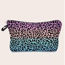 Ombre Leopard Makeup Bag