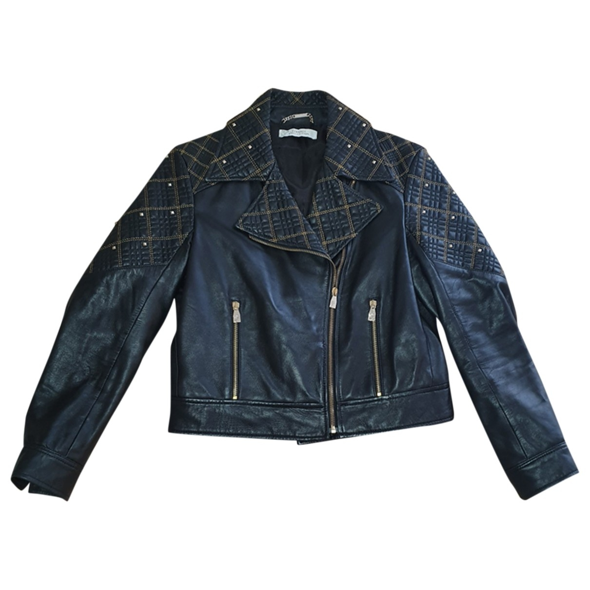 Versace \N Lederjacke in  Schwarz Leder