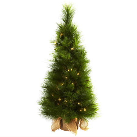Nearly Natural 3ft Burlap Bag Christmas Tree, One Size , Green