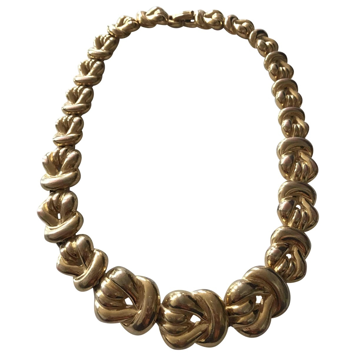 Non Signe / Unsigned Chaines Kette in  Gold Vergoldet