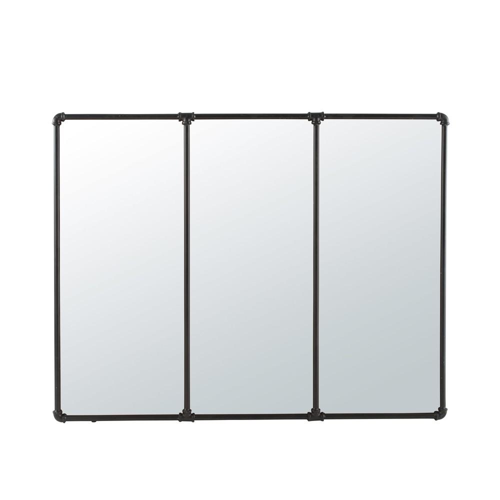 Spiegel mit schwarzem Metallrahmen, 119x95