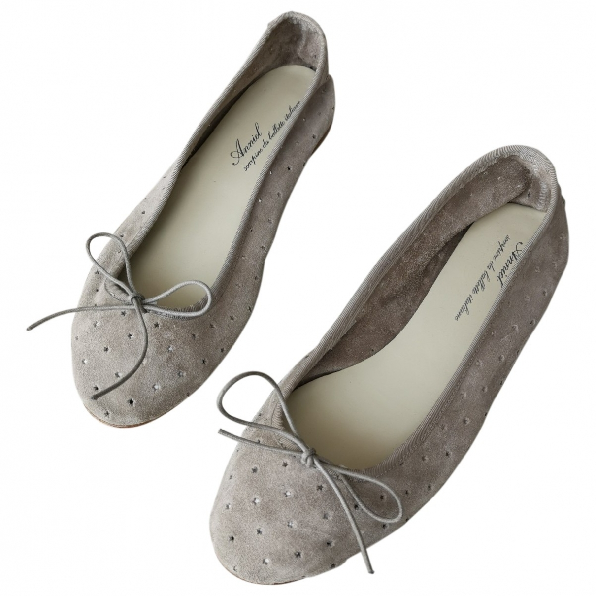 Anniel \N Suede Ballet flats for Women 38 EU