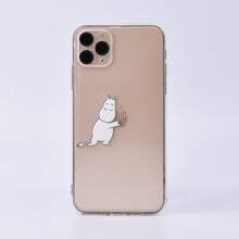 1pc Cartoon Graphic Clear iPhone Case