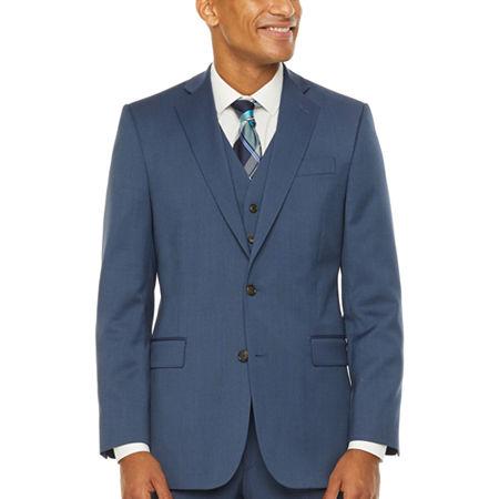 Stafford Super Stretch Classic Fit Suit Jacket, 40 Regular, Blue