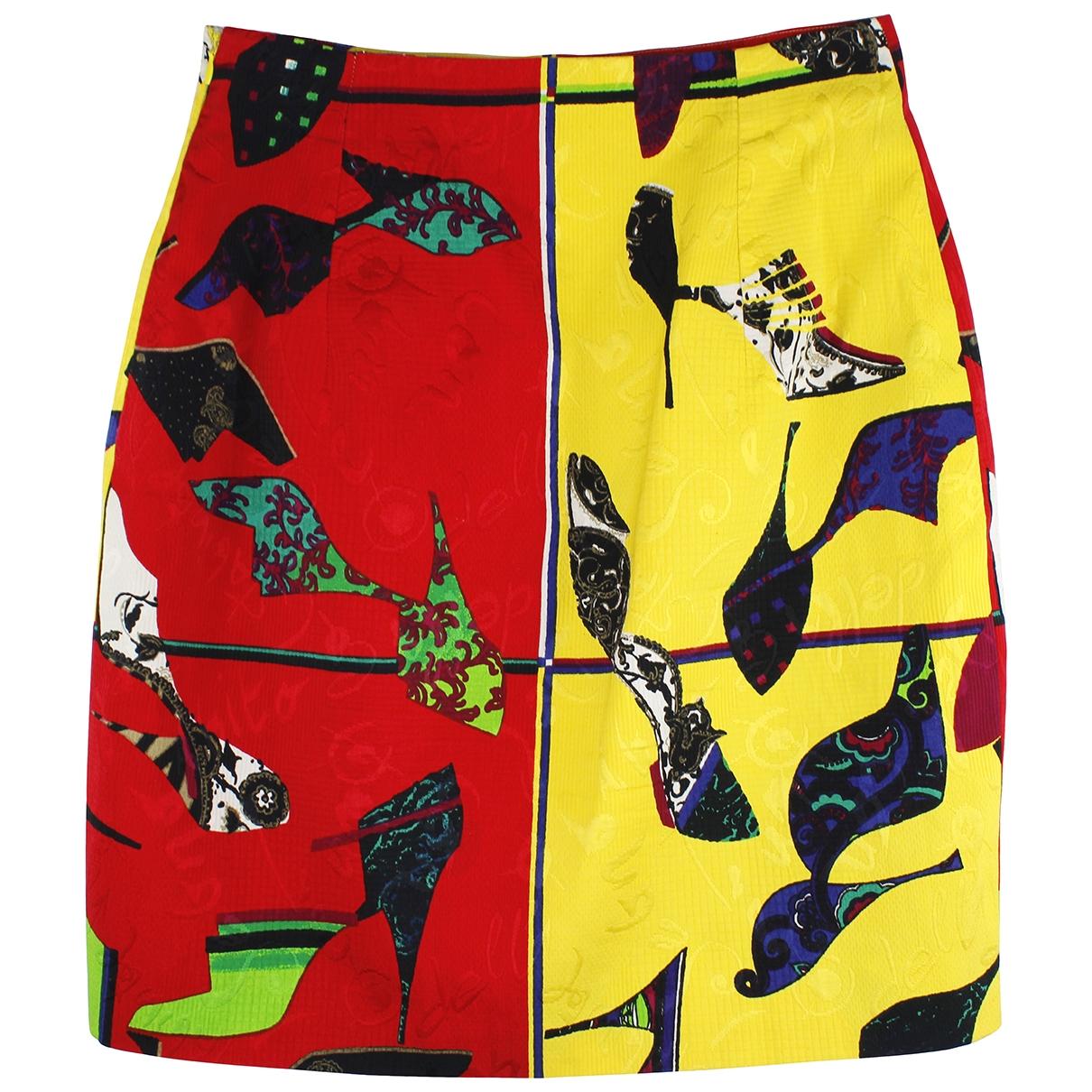 Gianni Versace \N Multicolour Cotton skirt for Women 46 IT