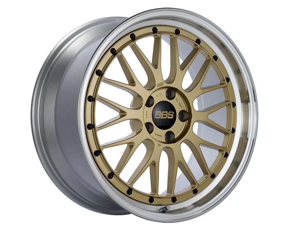 BBS LM Wheel 18x10 5x130 65mm Gold   Diamond Cut Rim
