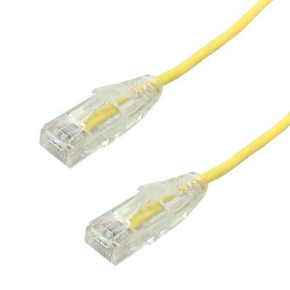 Câble patch ultra - mince Cat6a UTP 10Gb - jaune - 5pi