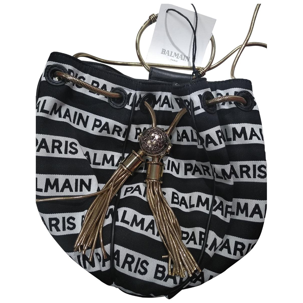 Balmain - Sac a main BBag 18 pour femme en coton - noir