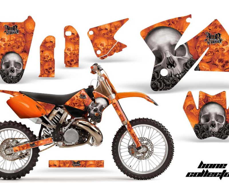 AMR Racing Dirt Bike Decal Graphic Kit Sticker Wrap For KTM SX/XC/EXC/MXC 1998-2001áBONES ORANGE