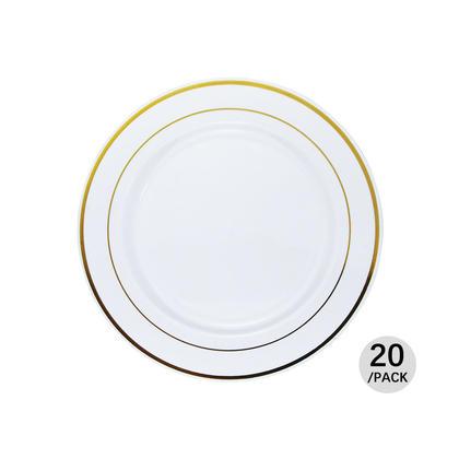 Premium Plastic Party Dessert Plate 7.5