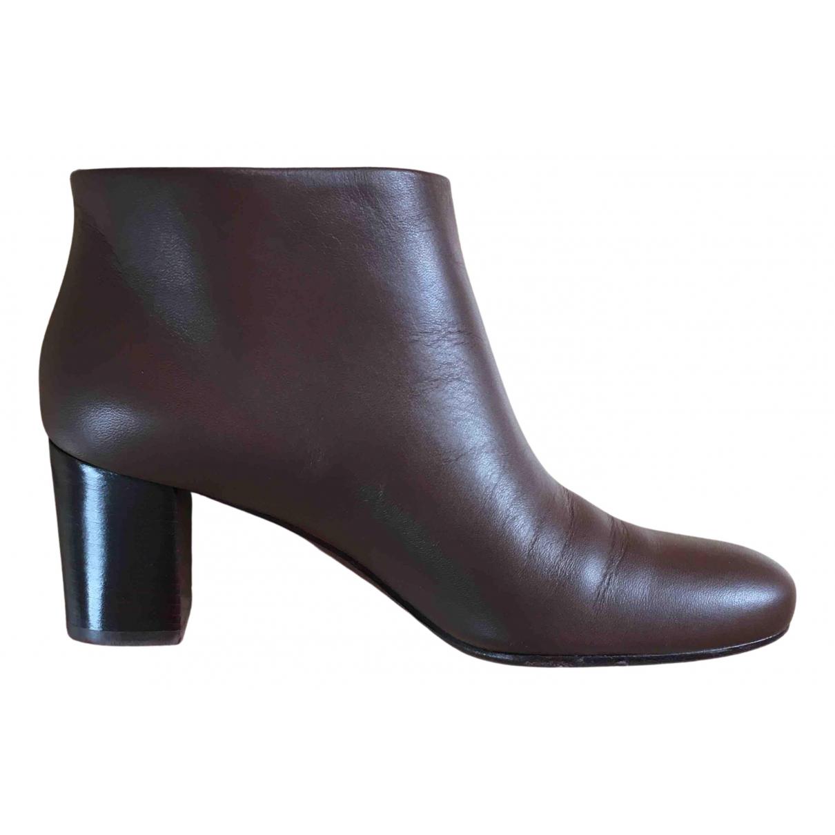 Avril Gau - Boots   pour femme en cuir - camel