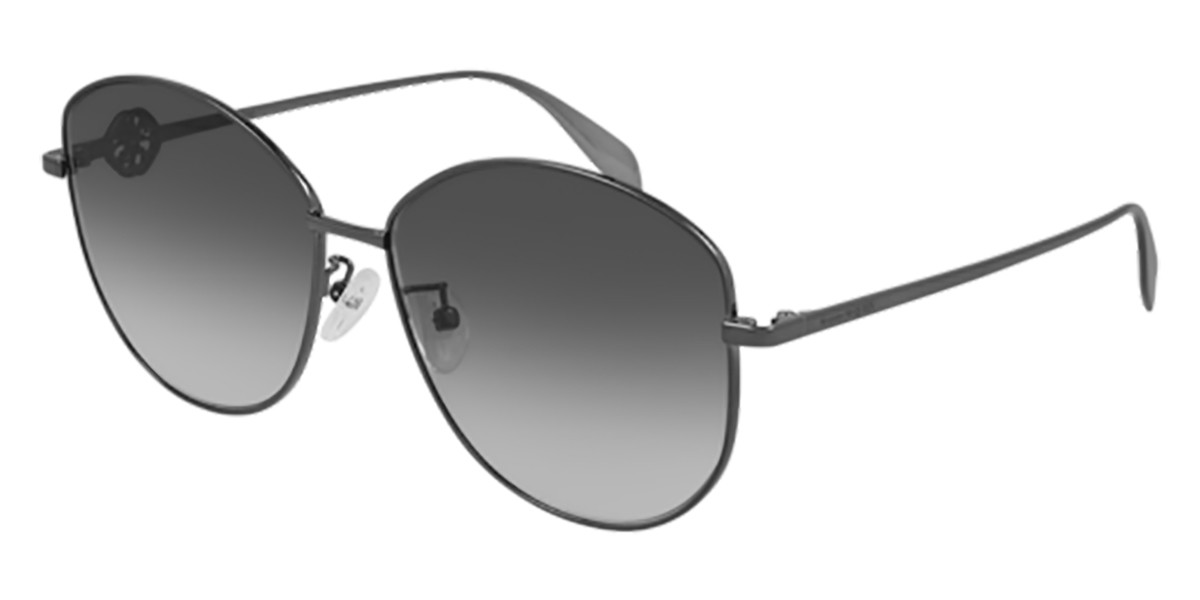 Alexander McQueen AM0288S 001 Women's Sunglasses Grey Size 62 - Free RX Lenses