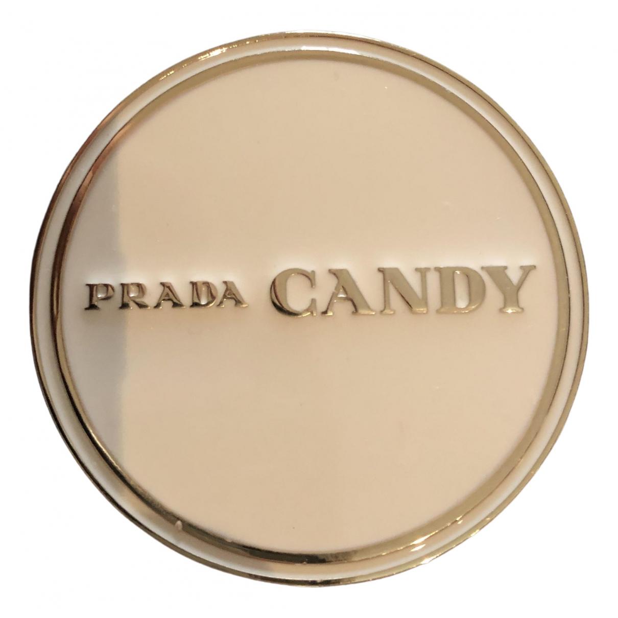 Broche en Metal Dorado Prada