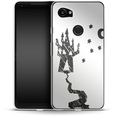Google Pixel 2 XL Silikon Handyhuelle - Haunted House von caseable Designs