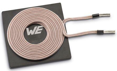 Wurth Elektronik Radial Wireless Charging Transmitter Coil, Ferrite Core, 20.5mm dia., 2.5A, 125mΩ, 42 Q Factor