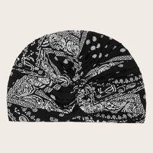 Turband Hut mit Paisley Muster