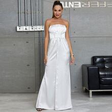 Vestidos Nudo Liso Blanco Glamour