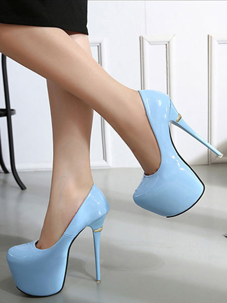 Milanoo Tacones altos sexy Plataforma negra Almond Sky Bombas altas Zapatos de mujer