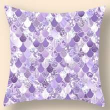 Fish Scale Pattern Cushion Cover Without Filler
