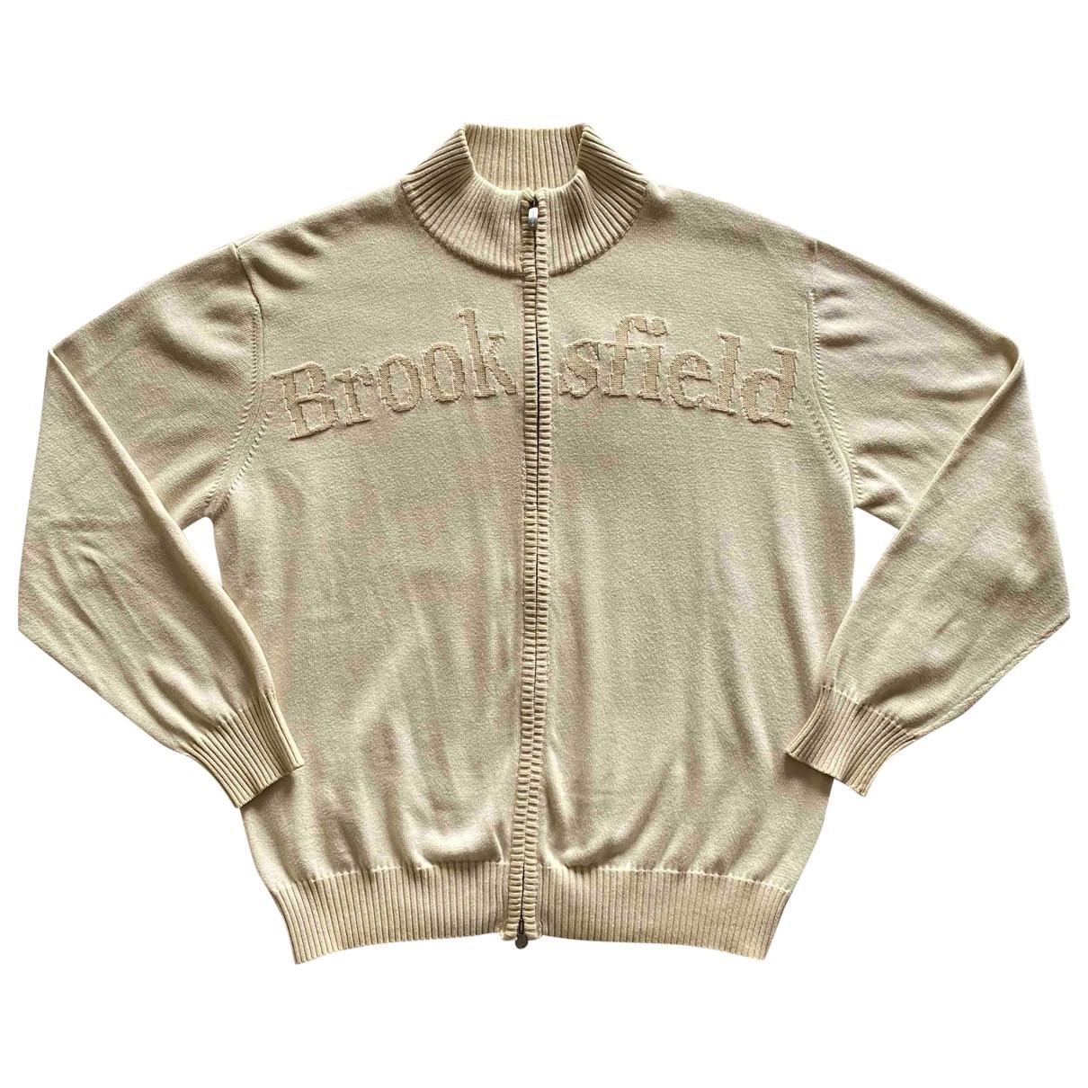 Brooksfield - Pulls.Gilets.Sweats   pour homme en coton - beige