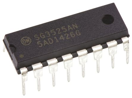 ON Semiconductor SG3525ANG, Dual PWM Voltage Mode Controller, 400 mA, 400 kHz 16-Pin, PDIP (2)