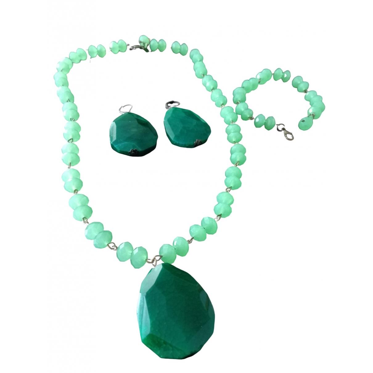 - Parure   pour femme en perles - vert