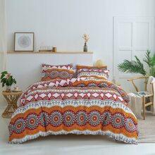 Set de cama con estampado de dibujo sin relleno
