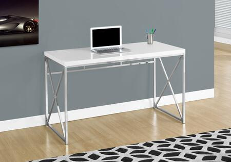 I 7205 48 Bookcase with Thick Panels  Contemporary Design and Criss Cross Metal Legs in