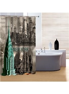 Classic New York Black and White Print 3D Shower Curtain