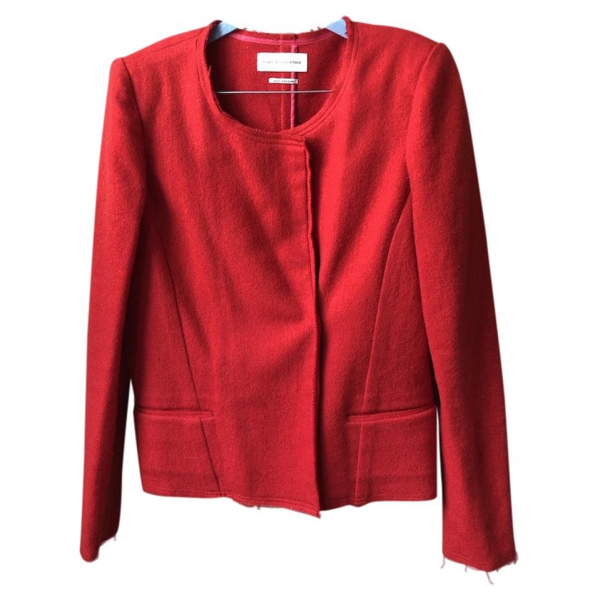 Isabel Marant Etoile \N Red Wool jacket for Women 38 FR