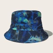 Men Tie Dye Pattern Bucket Hat