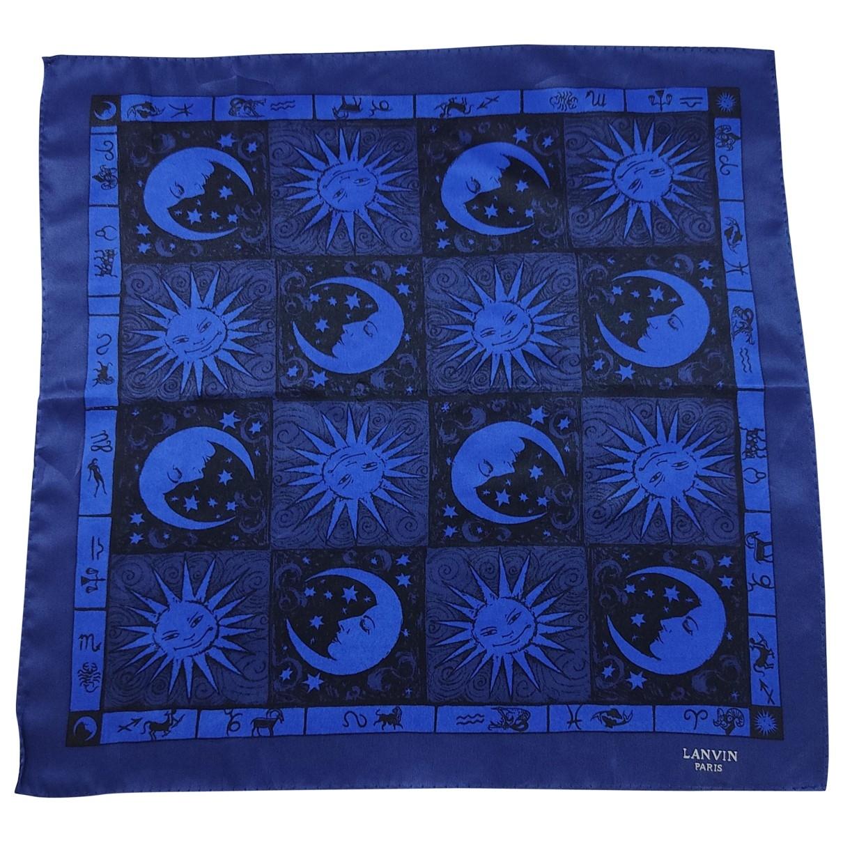 Lanvin \N Schal in  Blau Seide
