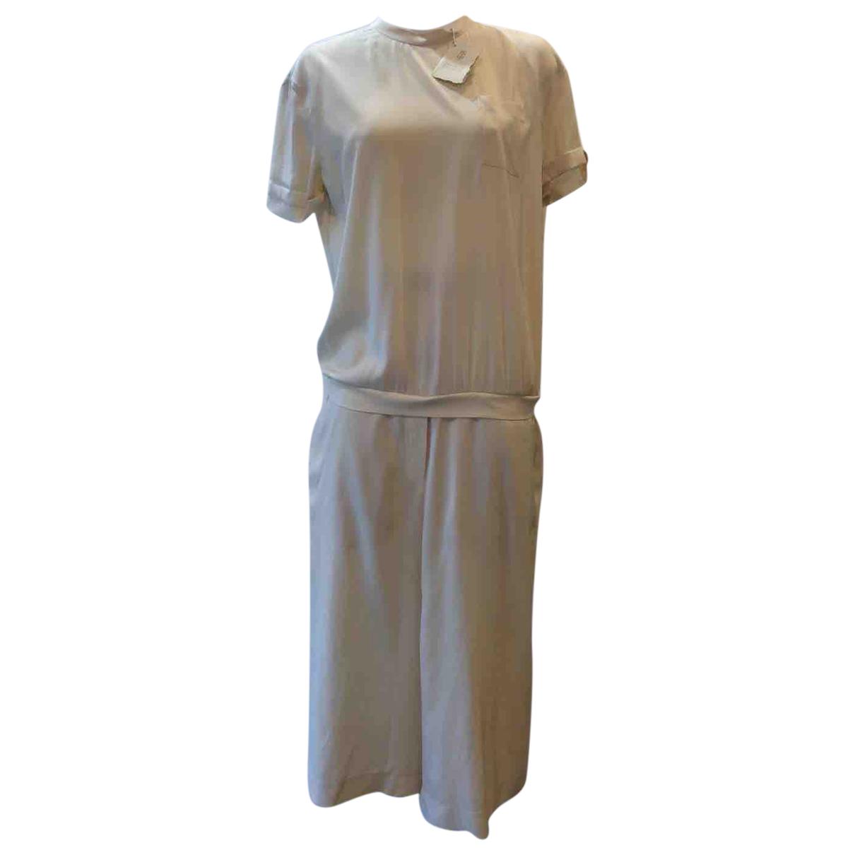 Brunello Cucinelli - Combinaison   pour femme en soie - beige