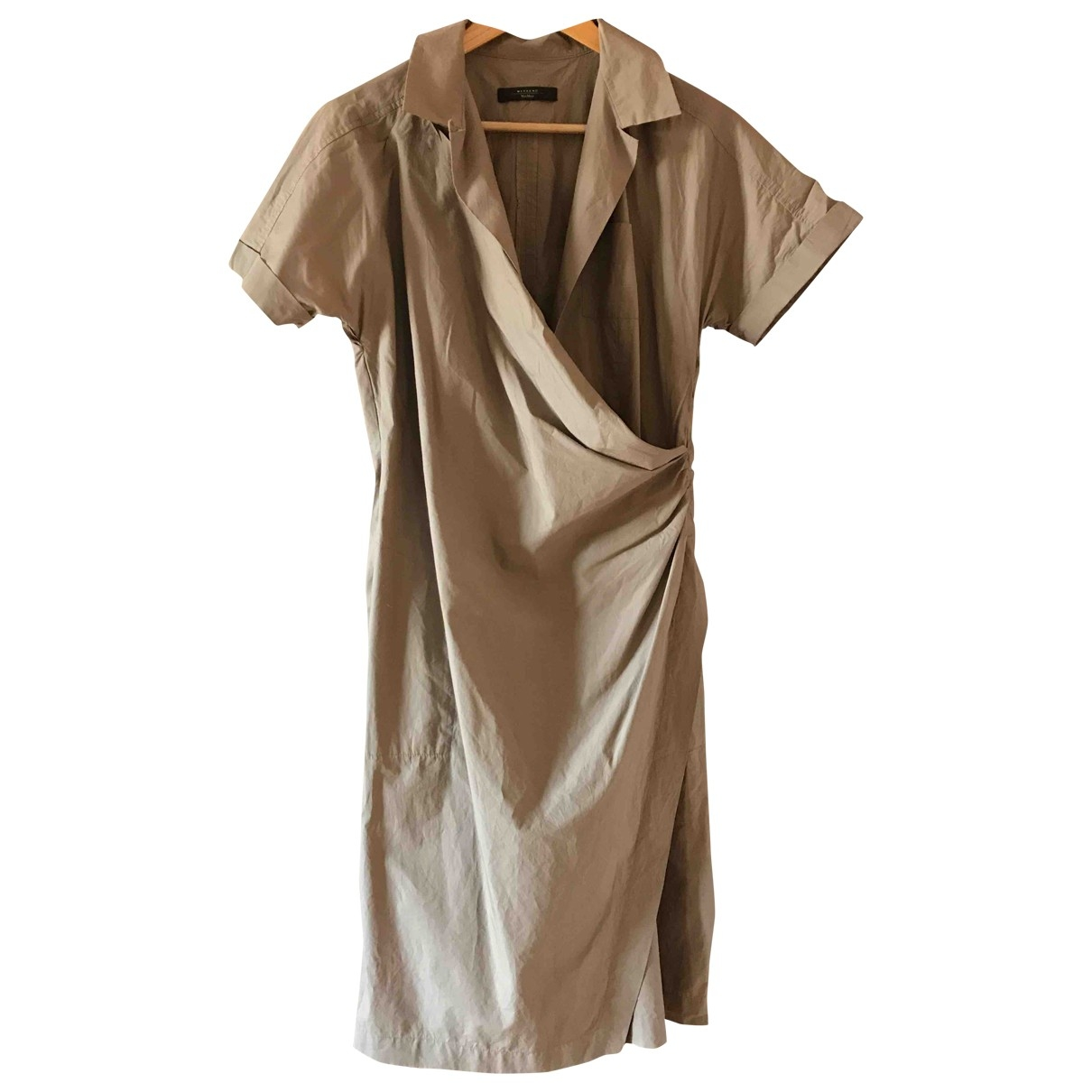 Max Mara Weekend \N Khaki Cotton dress for Women M International