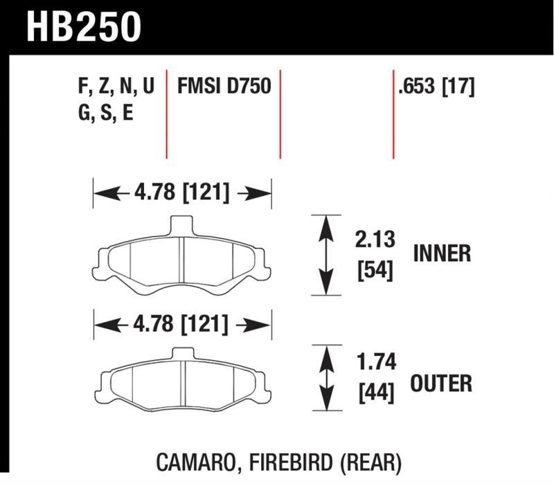 Hawk Performance HB250Z.653 Disc Brake Pad Rear