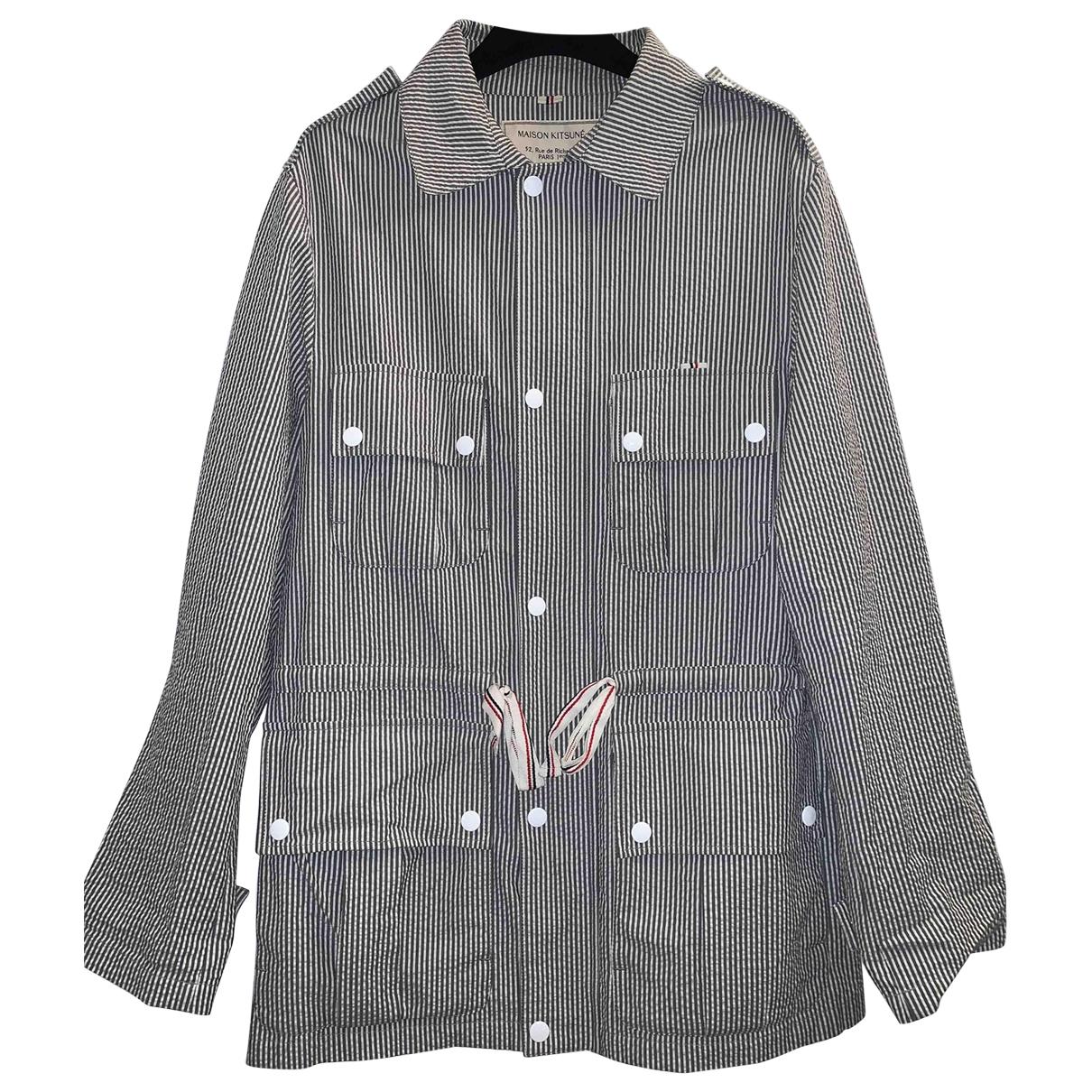 Maison Kitsune \N Blue Cotton jacket  for Men M International