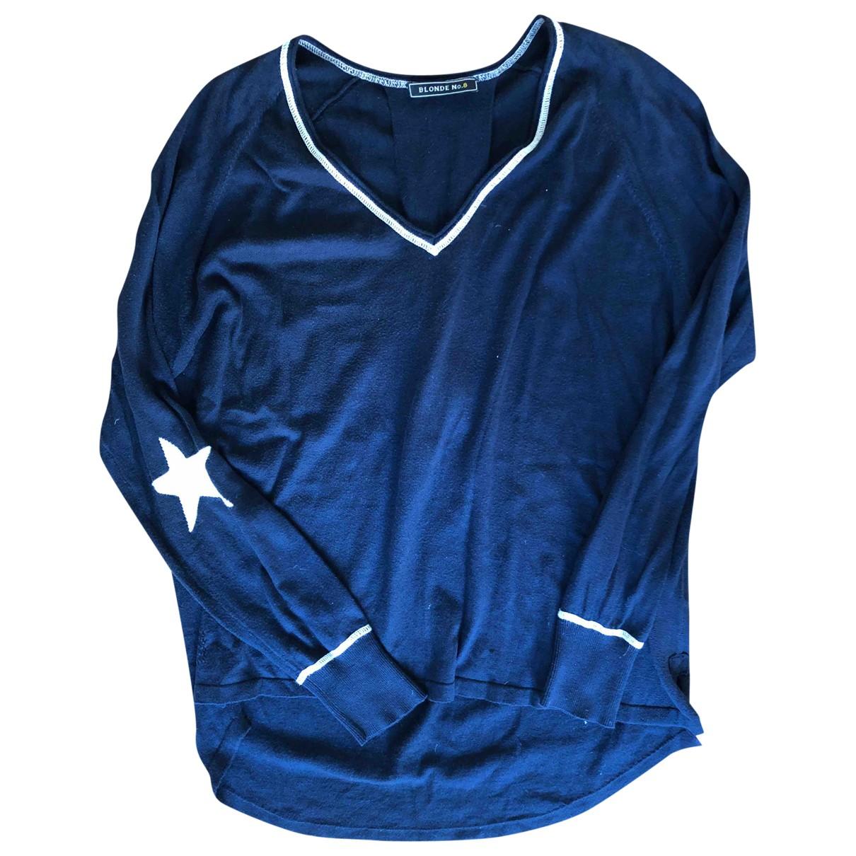 Blonde No.8 - Pull   pour femme en coton - bleu