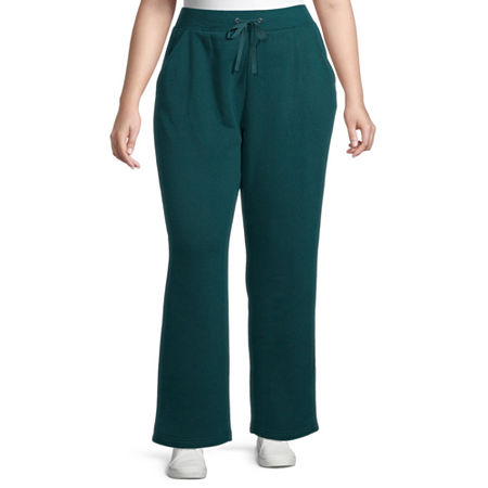 St. Johns Bay Womens Mid Rise Straight Drawstring Pants - Plus, 2x , Green