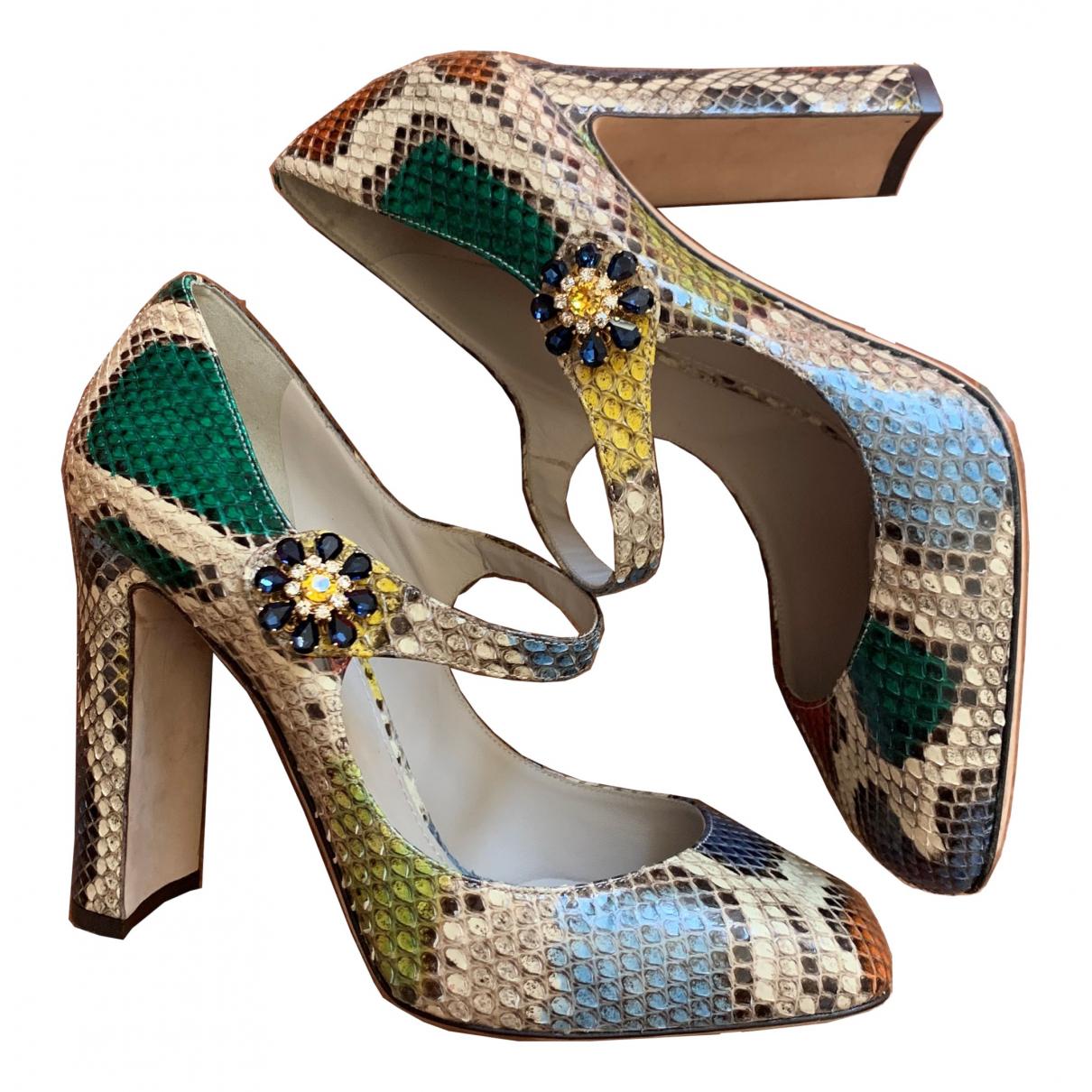 Dolce & Gabbana \N Pumps in  Bunt Python
