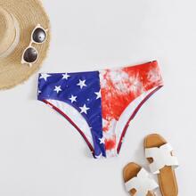 Star Print Tie Dye Bikini Panty