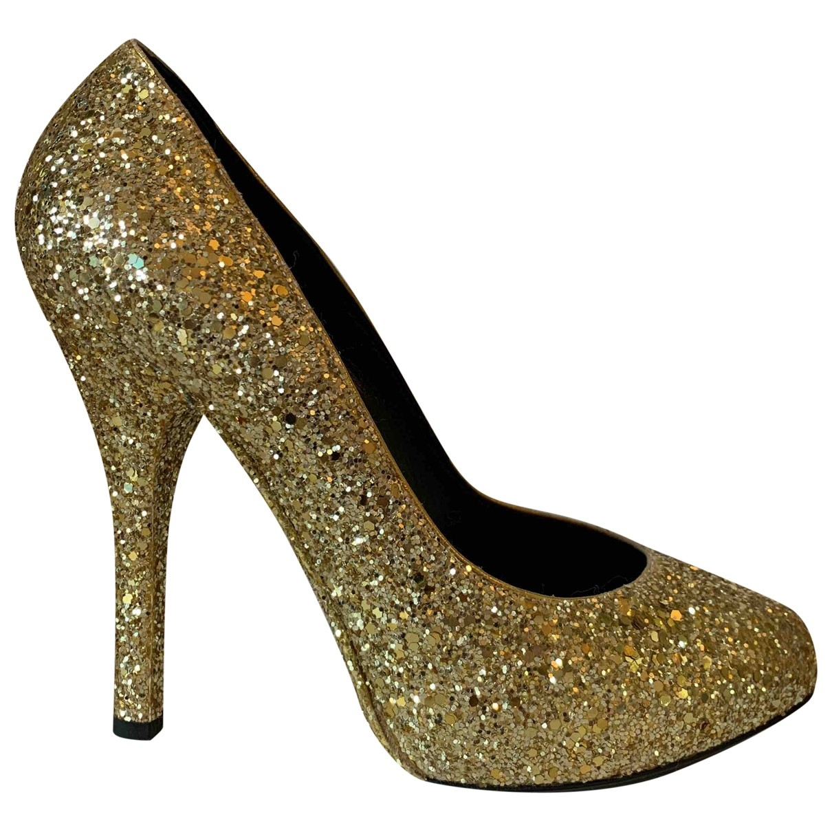 Dolce & Gabbana - Escarpins   pour femme en a paillettes - dore