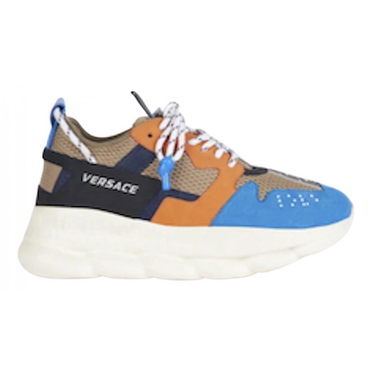 Versace Chain Reaction Sneakers in  Blau Leinen