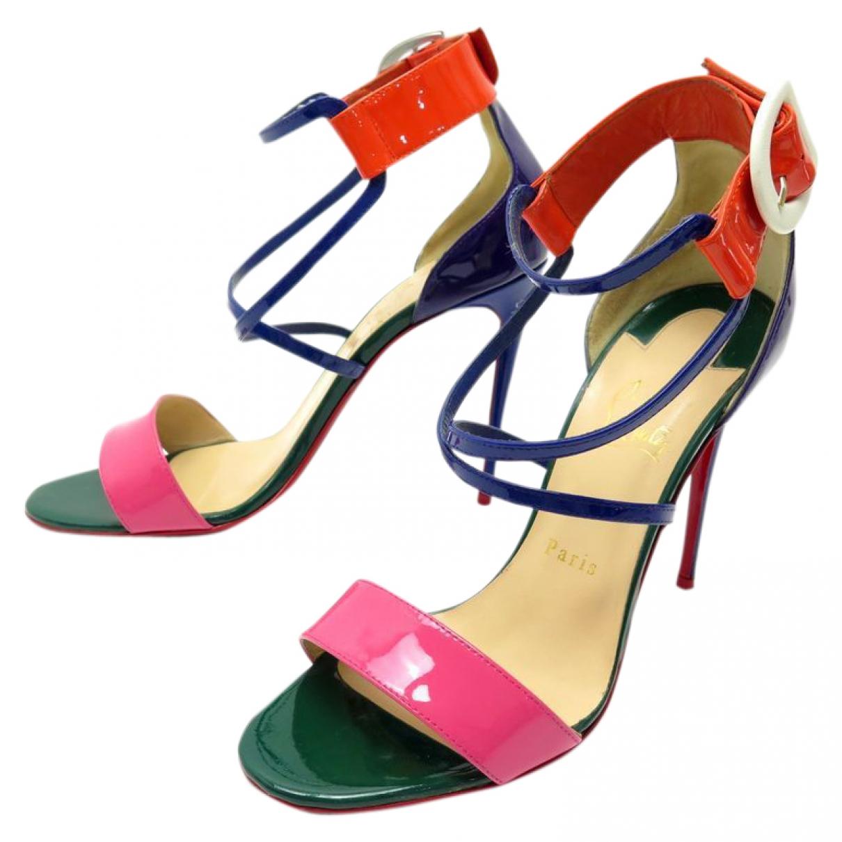 Sandalias de Charol Christian Louboutin