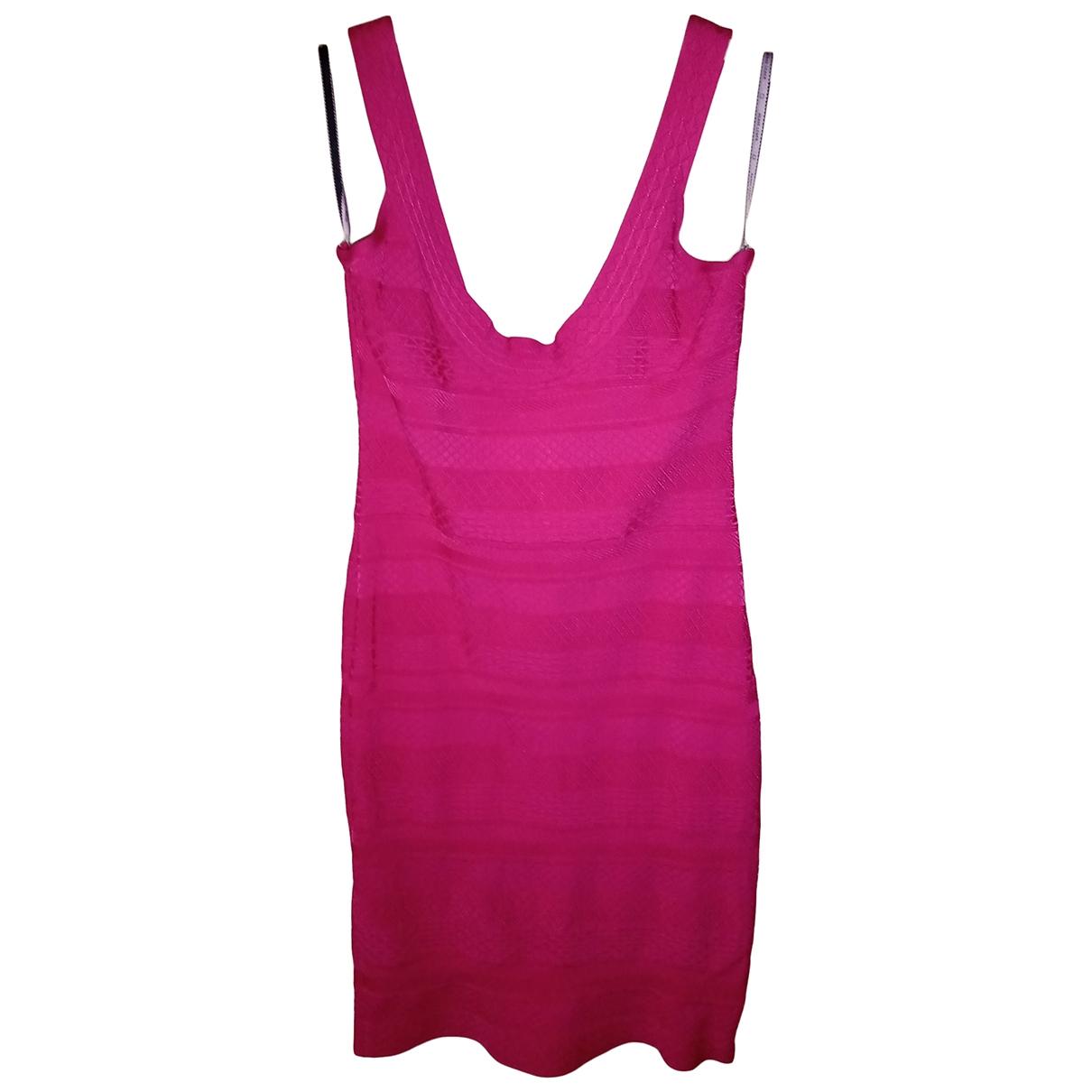 Herve Leger \N Pink dress for Women L International