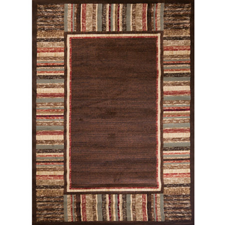 Concord Global Trading Soho Collection Border AreaRug, One Size , Brown