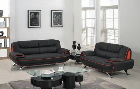 343855 67'' X 35'' X 35'' Modern Black Leather Sofa and