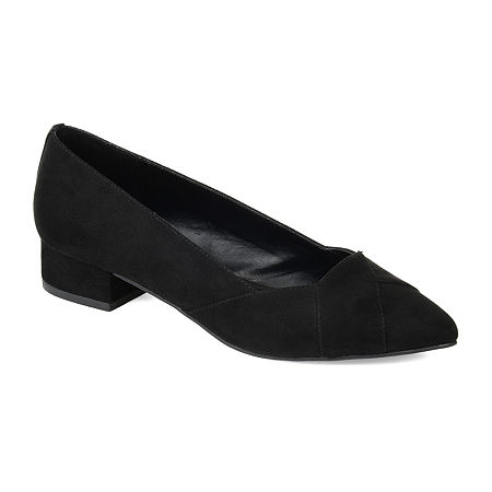 Journee Collection Womens Justine Pointed Toe Slip-on Loafers, 8 Medium, Black