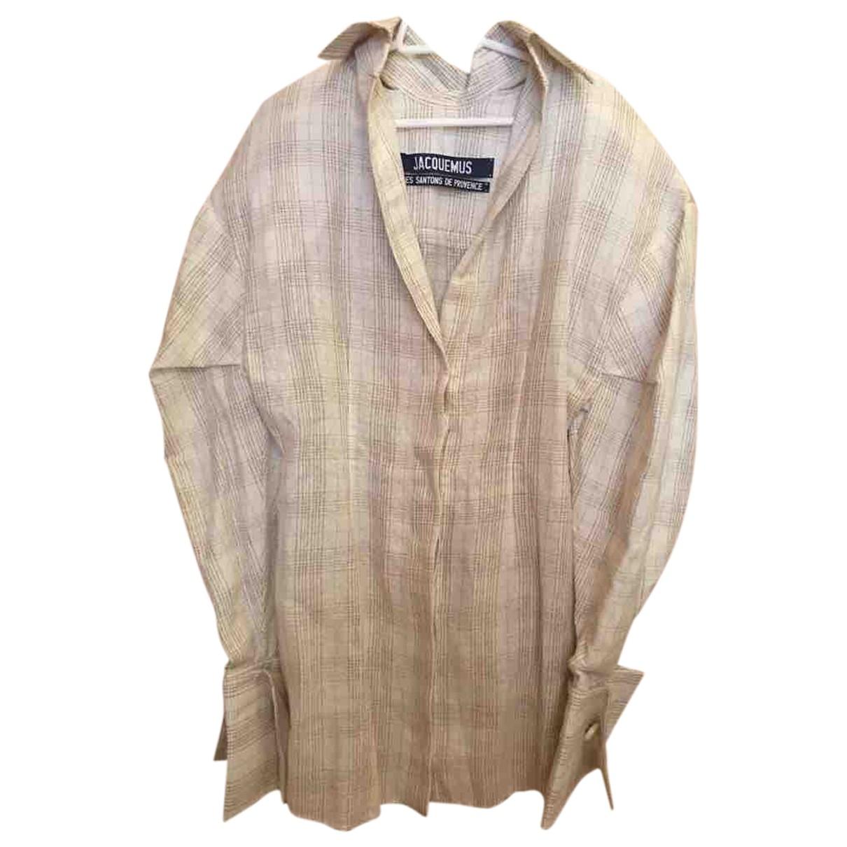 Jacquemus Les Santons de Provence Kleid in  Beige Leinen