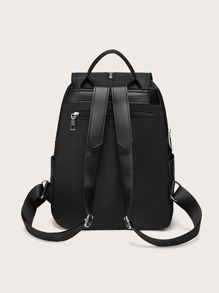 Tassel Decor Flap Backpack